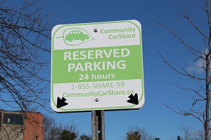 Parking Car Share Sign